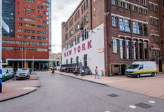 Hotel New York, the former office building of the Holland America Lines, Rotterdam royalty free stock images
