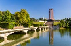 National Heroes Memorial in Carol Park - Bucharest Stock Image