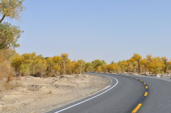 National highway 218, p.-. 218 national highway (or national highway 218 line, G218 line) is in a Chinese national highway, the starting point for xinjiang Stock Photography