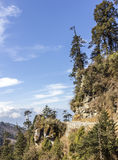 The national highway of Bhutan Royalty Free Stock Photo