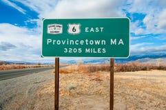 National Highway Origin Sign stock image