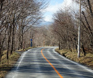 National Highway in Toyama, Japan.  Royalty Free Stock Photos