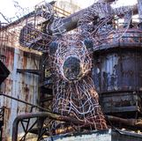 National Historic Landmark Carrie Blast Furnace steel art. National Historic Landmark Carrie Blast Furnace steel mill in Pittsburgh Pennsylvania art structure of Stock Photography