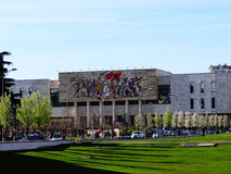 National Historical Museum, Tirane, Albania. Tirane, Albania-April 2, 2015: View of National Historical Museum. It's beginning of April and spring has already Royalty Free Stock Photography
