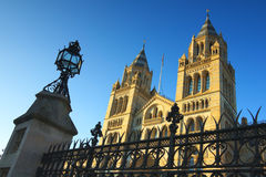 National History Museum in London, clear blue sky Stock Images