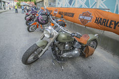 National HOG Rally Halden, Norway 12 to 15 June 2014 (bikes) Stock Image