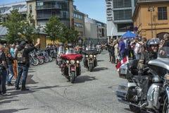 National HOG Rally Halden, Norway 12 to 15 June 2014 (bikes runn Royalty Free Stock Photos