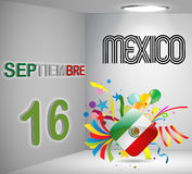 National Holiday 3D Calendar Mexico. Illustration Stock Illustration