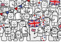 National holiday - England Royalty Free Stock Images