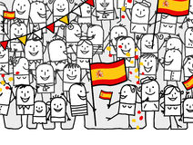 National holiday - Spain Stock Photography