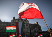 National holiday. (15th March) celebrations in Budapest, Hungary: A revolution in Hungary against the Habsburg  regime