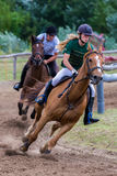 National horse race from Hungary Stock Images