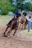 National horse race from Hungary Stock Photo