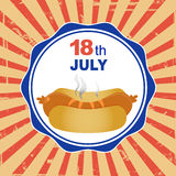 National Hot Dog Day Royalty Free Stock Photos