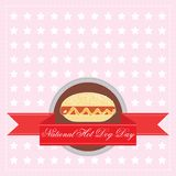 National Hot Dog Day. July 23 in 2014 vector illustration