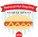 National Hot Dog Day. July 23 in 2014 royalty free illustration