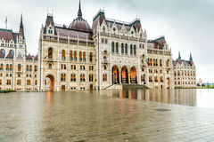 The National Hungarian Parliament building entrance. Majestic view of The National Hungarian Parliament building entrance stock images