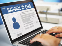 National Identification Card Data Information Citizen Concept Royalty Free Stock Photo