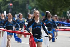 National Independence Day Parade 2018. Washington, D.C., USA - July 4, 2018, The National Independence Day Parade, The Somerest Academy Charter School Panther royalty free stock images