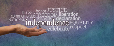 National Independence Day Website Banner Stock Photography
