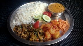A national Indian dish thali vegetable royalty free stock images