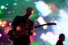 The National (indie rock band) in concert at Heineken Primavera Sound 2014 Festival (PS14) Royalty Free Stock Photo