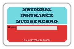 National Insurance Numbercard Stock Photos