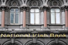 National Irish Bank detail Royalty Free Stock Image
