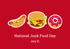 National Junk Food Day  Royalty Free Stock Photos