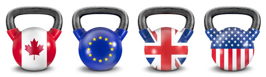 National kettlebells Royalty Free Stock Images