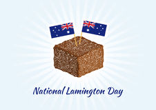 National Lamington Day vector Stock Image