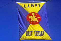 National Lampoon Flag, Harvard University, Cambridge, Massachusetts Royalty Free Stock Photo