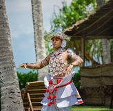National Lankan dance on the territory of Avani Benton Spa & Resort. Sri Lanka, Bentota - 14 April 2018: national Lankan dance on the territory of Avani Benton Royalty Free Stock Photos