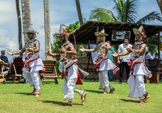 National Lankan dance on the territory of Avani Benton Spa & Resort. Sri Lanka, Bentota - 14 April 2018: national Lankan dance on the territory of Avani Benton Royalty Free Stock Photo