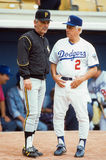 National League Managers, Jim Leyland and Tommy Lasorda Stock Images