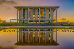 National Library of Australia, Canberra - at dusk Stock Images