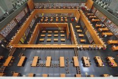 National Library of Beijing. The largest library in China, the National Library of Beijing Stock Photography