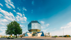 National Library Of Belarus In Minsk. Building Of  National Library Of Belarus In Minsk. Famous Symbol Of Belarusian Culture And Science Royalty Free Stock Image