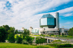 National Library Of Belarus In Minsk. MINSK, BELARUS - June 3, 2014: Building Of  National Library Of Belarus In Minsk. Famous Symbol Of Belarusian Culture And Stock Photos