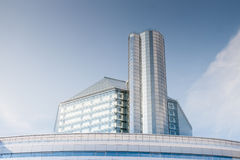 National Library of Belarus. Modern whole glass building Stock Photography