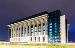 National Library, Bucharest, Romania (night) Stock Photo