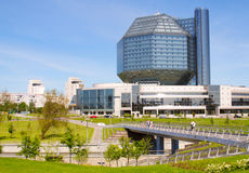 National Library building in Minsk. Belarus Royalty Free Stock Photo