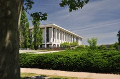 National Library Canberra. Australia Distant View Royalty Free Stock Photo