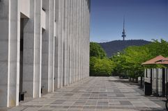 National Library Canberra. Side view Royalty Free Stock Images