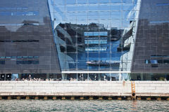 National library of Denmark is the Black diamant Royalty Free Stock Images