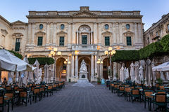 National Library of Malta in the Evening, Valletta Royalty Free Stock Photo