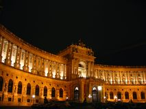 National Library night, Vienna stock images