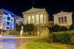 National Library Of Greece At Night, Athens Royalty Free Stock Photography
