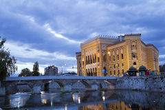 National library,in Sarajevo Royalty Free Stock Photography