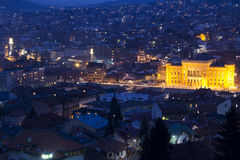 National library and Sarajevo Stock Image